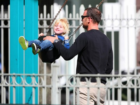 Liev Schreiber Out with His Boys at the Park (Photos)