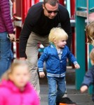 Actor Liev Schreiber Out with His Boys at the Park