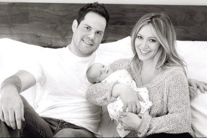 Hilary Duff's First Family Portrait With Son Luca