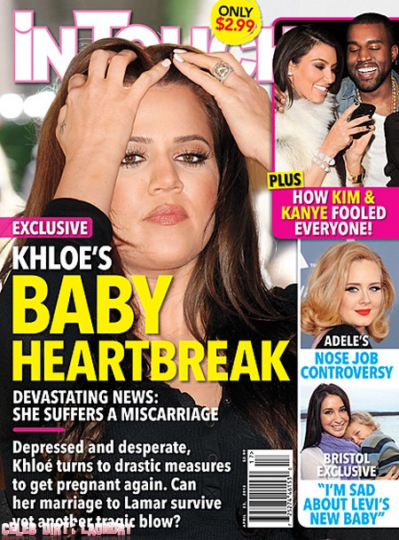 Devastating News, Khloe Kardashian Suffers A Miscarriage!