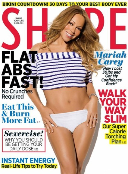 Mariah Carey Has Shape Magazine Covered And Talks Baby Weight Inside