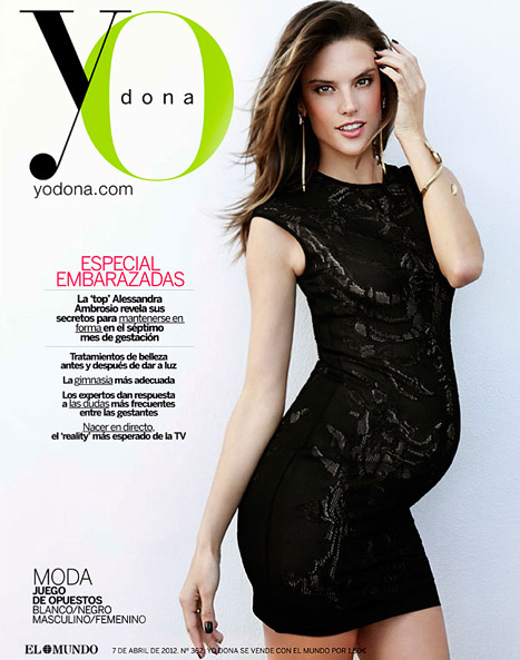 Alessandra Ambrosio Bumps On The Cover Of Yo Dona