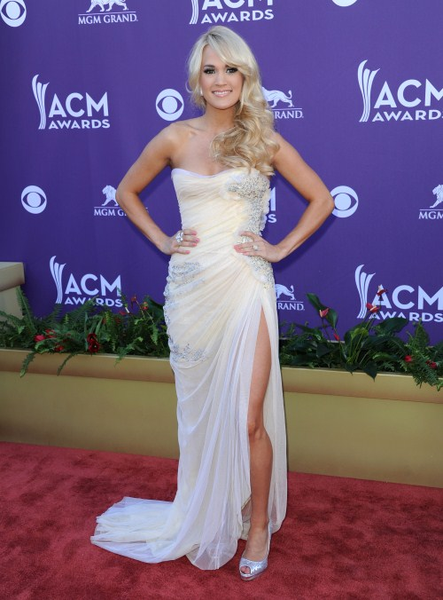 Carrie Underwood at the 2012 Academy of Country Music Awards held at the MGM Grand hotel & casino in Las Vegas, Nevada on April 1, 2012.