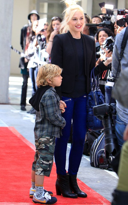 Gwen Stefani and Kingston at the Story Time Celebration Skirball Cultural Center in Los Angeles, CA on Sunday