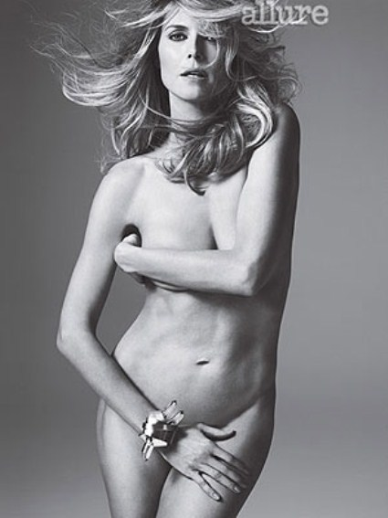 Heidi Klum Is A Sexy Mother Of Four In Allure Magazine