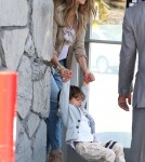 Jennifer Lopez out with Max in Sherman Oaks, California April 15