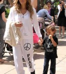Jennifer Lopez & Boyfriend Casper Smart take Max and Emme to meet the Easter Bunny