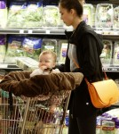 Jessica Alba goes shopping at Whole Foods in Beverly Hills with her daughter Haven.