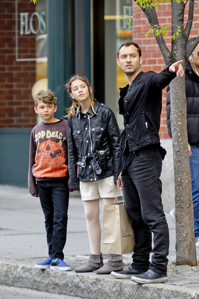 Jude Law's Family Shopping Day
