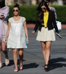 Kourtney Kardashian and family leaving church after an Easter service in Los Angeles