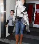 Kate Hudson returned from her Cancun, Mexico at LAX with her two boys Ryder and Bing in Los Angeles, California on April 1, 2012.