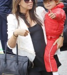 Kourtney Kardashian with son Mason Disick at LAX - April 21