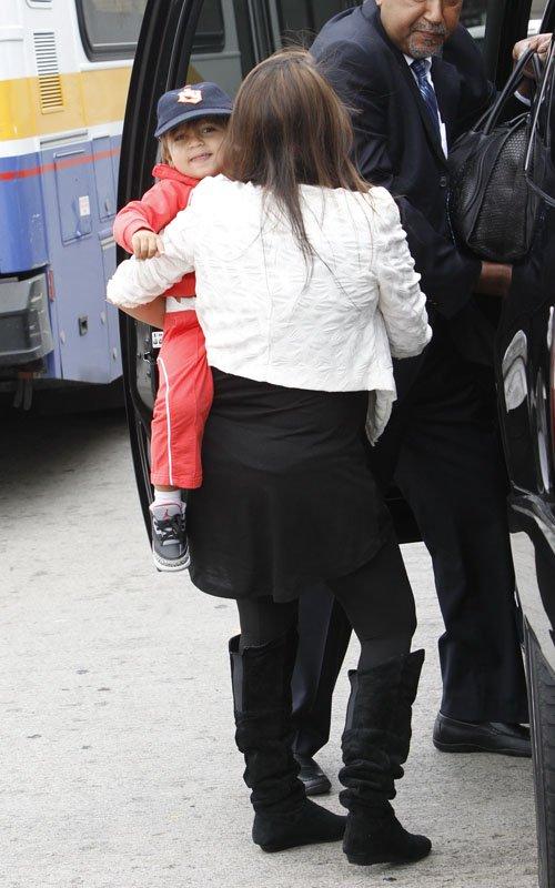 Kourtney Kardashian with son Mason Disick at LAX – April 21