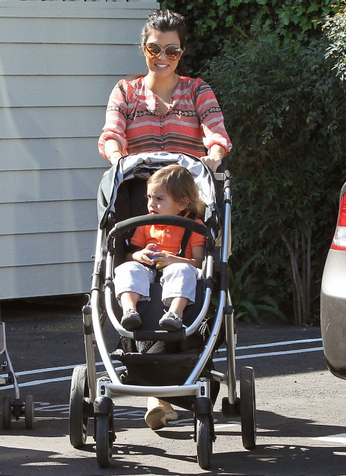 Kourtney Kardashian and her son Mason Disick stopped by to see his Aunt and grandma at the Net Results in Calabasas, California before heading to their next location.