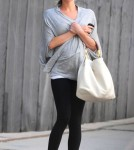Kristin Cavallari and fiance Jay Cutler out walking her dog in Chicago, Illinois April 17