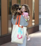 Sarah Jessica Parker is seen taking her two daughters Marion and Tabitha to school in New York.