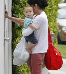 Selma Blair returned home with her son Arthur Bleick in Los Angeles, California on April 24, 2012.