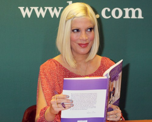 Tori Spelling held a book siging for her latest book CelebraTori in New York City, New York on April 4, 2012