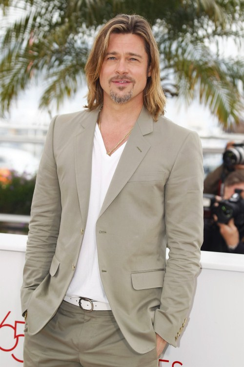 "Brad Pitt attends the ""Killing Them Softly"" Photocall during the 65th Annual Cannes Film Festival at Palais des Festivals on May 22, 2012 in Cannes, France."