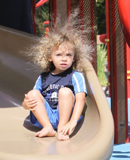 Hank Baskett IV's Hair Raising Park Adventures