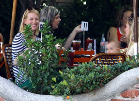 January Jones Lunches With Baby Xander (Photos)