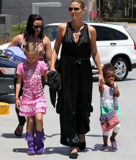 Heidi Klum Takes The Kids To The Movies 0528