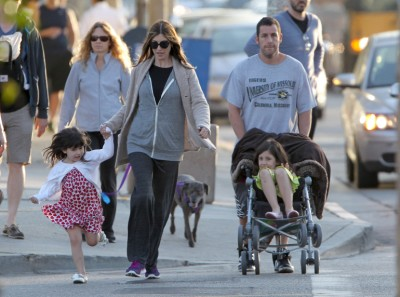 Adam Sandler takes a stroll with his ladies (Photos) 0518