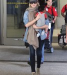 Charlize Theron And Jackson Touch Down After European Tour 0523