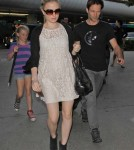 Pregnant Anna Paquin & Stephen Moyer Arrive at LAX May 28