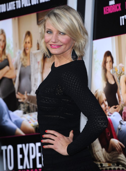 Cameron Diaz at the premiere of 'What To Expect When You Are Expecting' at the Chinese theatre in Hollywood, California on May 14, 2012.