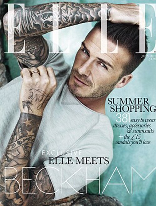 David Beckham Covers ELLE UK July 2012