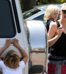 Gwen Stefani took sons Kingston and Zuma along with their grandma to their school festival in Encino, CA on May 6th, 2012. While there, an ambulance showed up rumored to be for the singer!