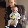 Hilary Duff and Son Luca at 2 months