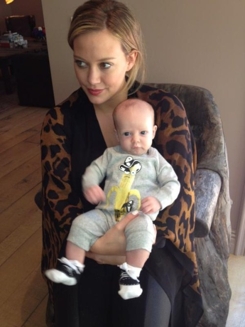 Hilary Duff Shows Off Two Month Old Son Luca