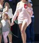 Singer Jamie Lynn Spears, her daughter Maddie Aldridge and her mother Lynne Spears out shopping and getting some ice cream in West Hollywood, California on May 6, 2012.