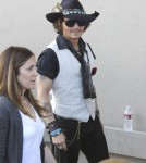 "Johnny Depp signing autographs outside ""Jimmy Kimmel Live!"" in Los Angeles, California on May 8, 2012."