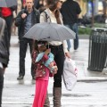 Katie Holmes and Suri Cruise in New York City On a Rainy Day - May 21