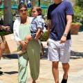 Kourtney Kardashian with Scott Disick and Mason at the Calabasas Commons in Calabasas, CA - May 23