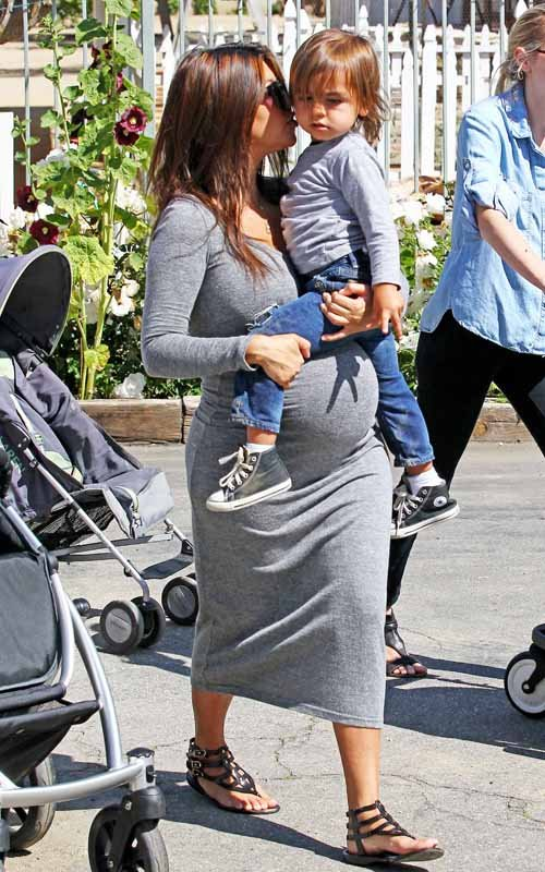 Kourtney Kardashian's Pregnant Playdate With Mason