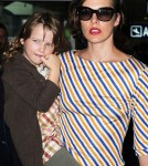 Milla Jovovich and her daughter Ever touch down in Nice, France - May 22