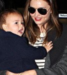 Miranda Kerr & Flynn Touch Down in Austraila May 13