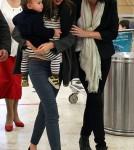 Miranda Kerr & Flynn Touch Down in Austraila May 13