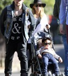 Nicole Richie and Joel Madden with Harlow and Sparrow at the Sydney Zoo in Australia - May 15