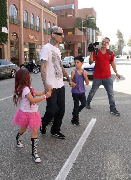 Travis Barker's Daddy Duty Day