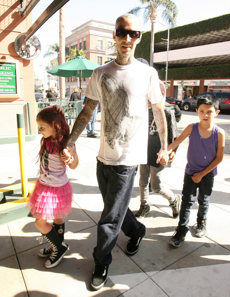 Travis Barker Takes Landon and Alabama to Doctor