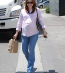 Pregnant Alyson Hannigan is all smiles as she leaves Tavern in Brentwood, California on June 3, 2012