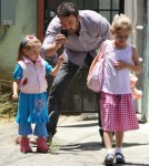 Ben Affleck, Violet And Seraphina Indulge In Fashion Camp And Ice Cream 0611