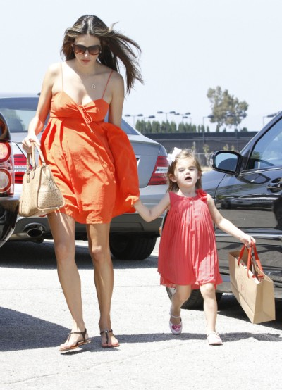Alessandra Ambrosio Takes Daughter Anja Mazur To Party