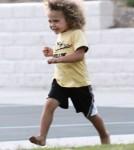 Kendra Wilkinson's Son Hank Baskett IV Chills At The Park 0615