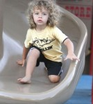 Kendra Wilkinson's Son Hank Baskett IV Chills At The Park 0615